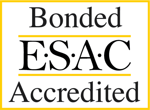 ESAC Bonded Accredited
